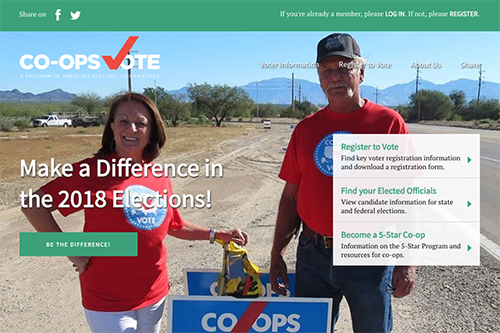 Register to vote or find your elected officials at vote.coop!